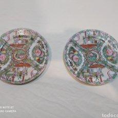 Antigüedades: PRECIOSA PAREJA DE PLATOS CHINOS. Lote 252330985