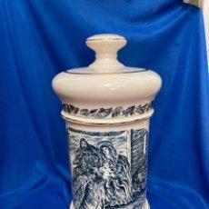 Antigüedades: ALBARELO DE PORCELANA DE LA CARTUJA DE SEVILLA PICKMAN , ALTURA 30 CM,. Lote 252339795