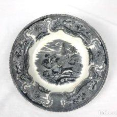 Antiquités: PLATO ONDO DE CERÁMICA FABRICA LA AMISTAD CARTAGENA CON DOS PELOS. Lote 252345570