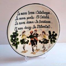 Antiquités: PLATO BARRO CATALAN TRADICIONES - 27.CM DIAMETRO. Lote 252371540