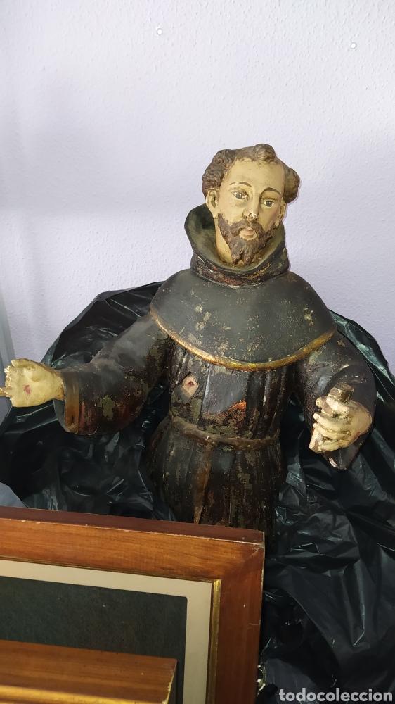 Antigüedades: Gran talla religiosa Francisco de Asís. - Foto 2 - 252444420