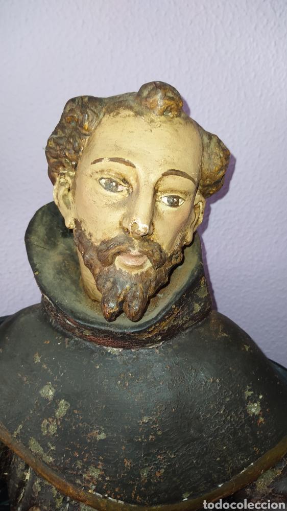 Antigüedades: Gran talla religiosa Francisco de Asís. - Foto 3 - 252444420