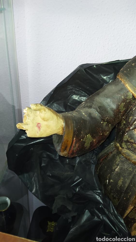 Antigüedades: Gran talla religiosa Francisco de Asís. - Foto 5 - 252444420