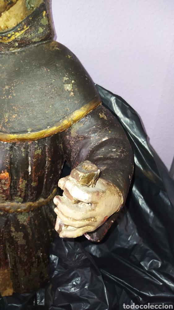 Antigüedades: Gran talla religiosa Francisco de Asís. - Foto 6 - 252444420