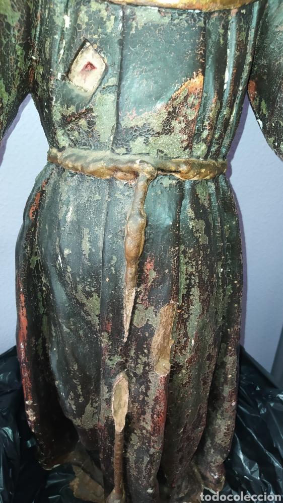 Antigüedades: Gran talla religiosa Francisco de Asís. - Foto 12 - 252444420
