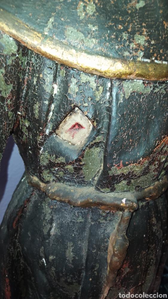 Antigüedades: Gran talla religiosa Francisco de Asís. - Foto 14 - 252444420