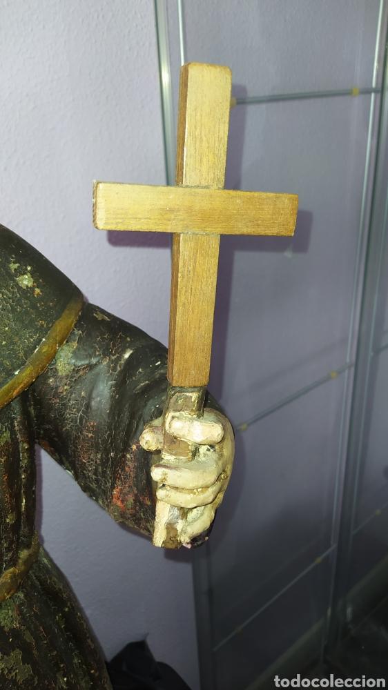 Antigüedades: Gran talla religiosa Francisco de Asís. - Foto 16 - 252444420