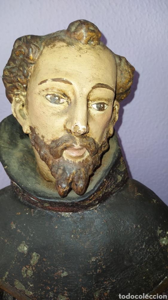 Antigüedades: Gran talla religiosa Francisco de Asís. - Foto 17 - 252444420