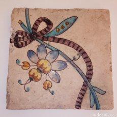 Antigüedades: AZULEJO VALENCIANO - SIGLO XVIII - PINTADO A MANO - PRECIOSOS PIGMENTOS Y DETALLES -. Lote 252478400