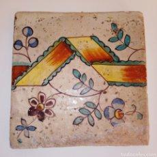 Antigüedades: AZULEJO VALENCIANO - SIGLO XVIII - PINTADO A MANO - PRECIOSOS PIGMENTOS Y DETALLES -. Lote 252478760