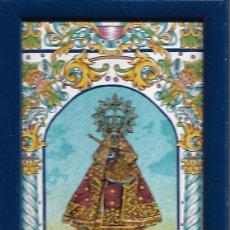 Antigüedades: ANTIGUO AZULEJO DE LA VIRGEN DE GUADALUPE PARA COLGAR 22 X 12 CM. Lote 252515580