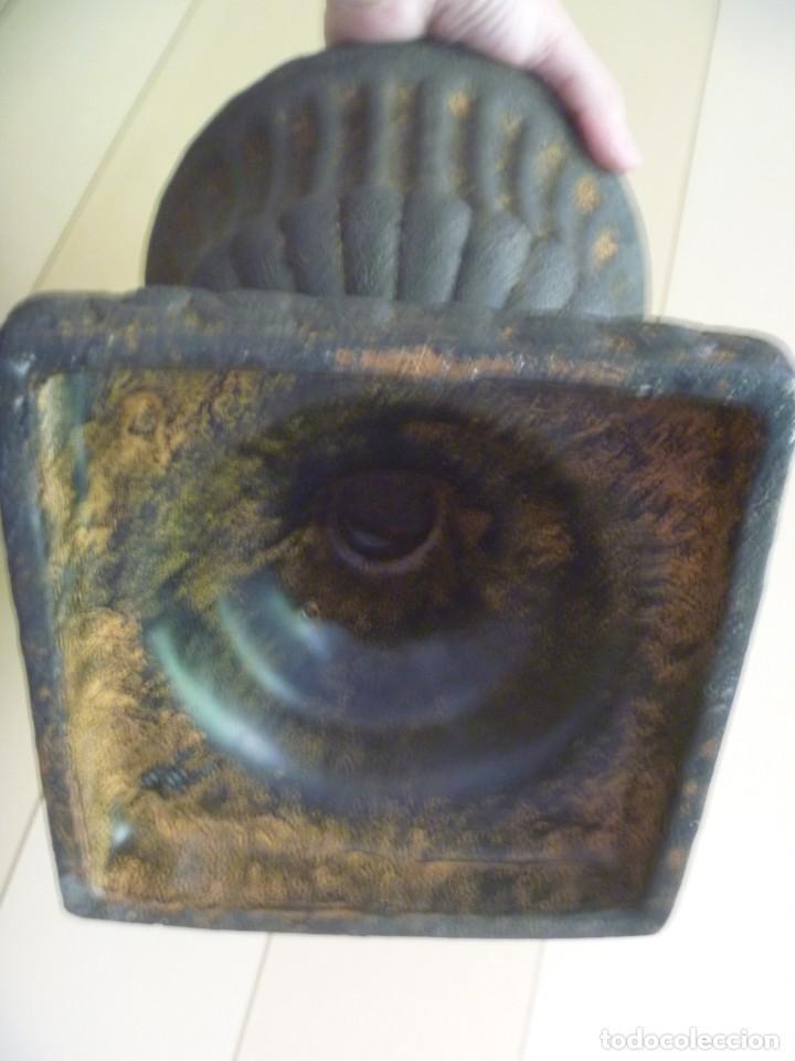 Antigüedades: ANTIGUO MACETERO URNA HIERRO ESTILO COPA MEDICI PRECIOSA PATINA IDEAL DECORACIÓN - Foto 6 - 252608650