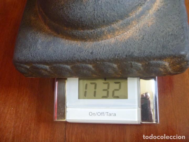 Antigüedades: ANTIGUO MACETERO URNA HIERRO ESTILO COPA MEDICI PRECIOSA PATINA IDEAL DECORACIÓN - Foto 10 - 252608650