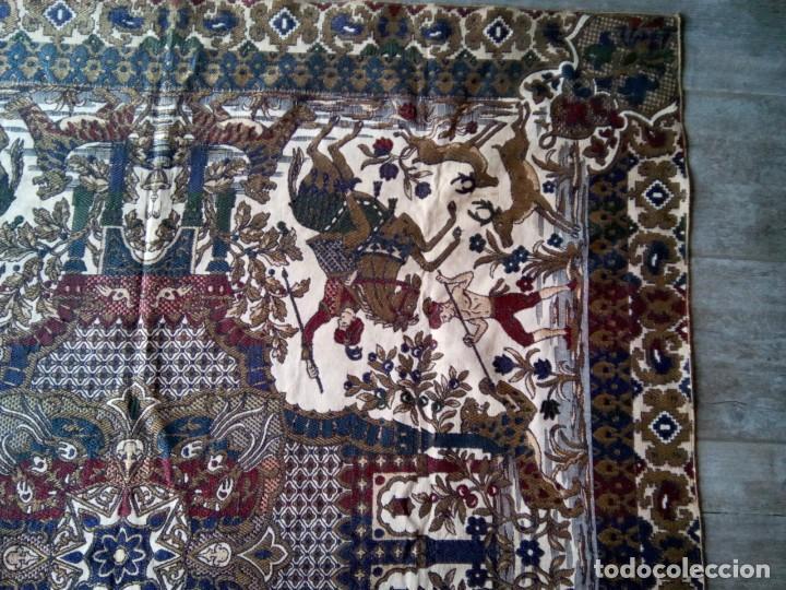Antigüedades: TAPETE BROCADO. COBERTOR. 1,45M. (Rf:58/e) - Foto 3 - 252617045