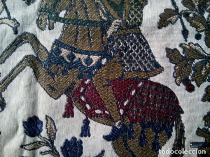 Antigüedades: TAPETE BROCADO. COBERTOR. 1,45M. (Rf:58/e) - Foto 8 - 252617045