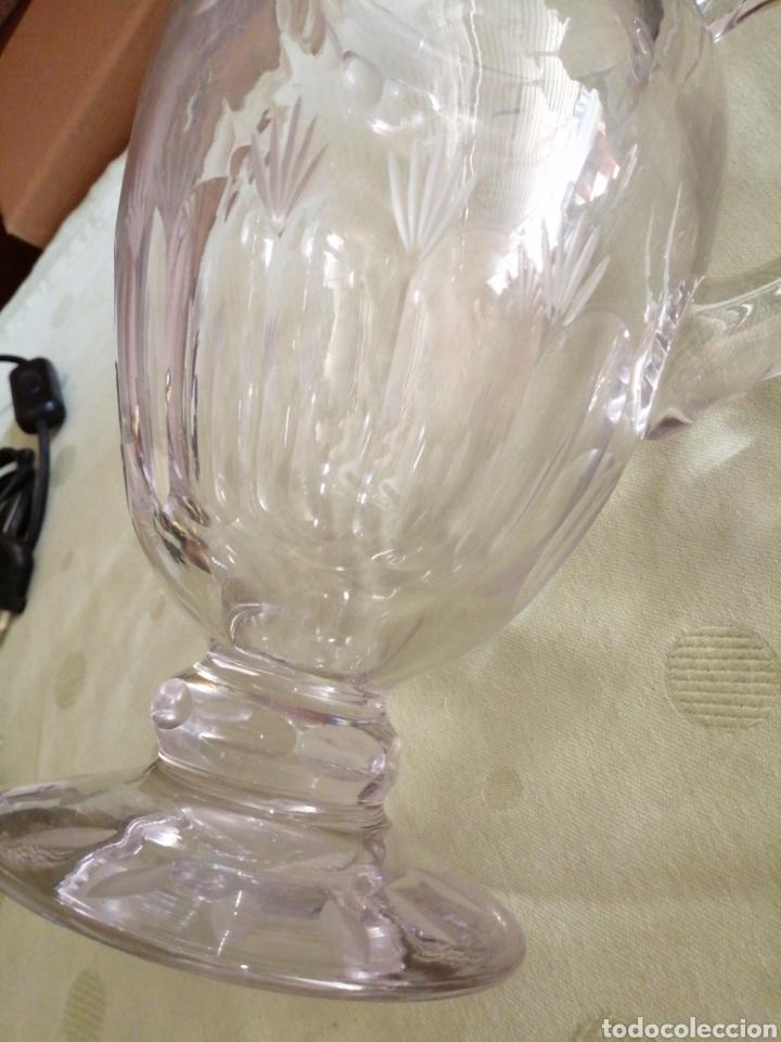 Antigüedades: Jarra grande de cristal tallado - Foto 5 - 252638735