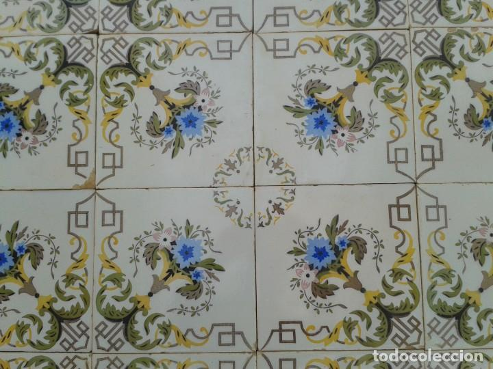 Antigüedades: P15 24 AZULEJOS MODERNISTAS PANEL BANCO ENCIMERA PARED MURO MESA PILAR - Foto 6 - 252750775