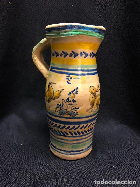 JARRITA DE TRIANA CON RESTAURACION EN BOCA RESEÑADO EN FOTOS (Antigüedades - Porcelanas y Cerámicas - Triana)