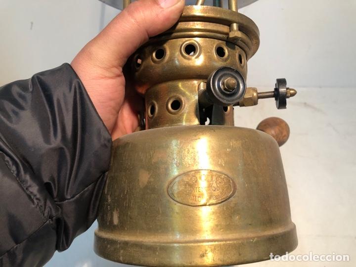 Antigüedades: FOCUS, LAMPARA DE PETROLEO - TIPO 00 - BADALONA - ORIGINAL. ANTIGUA - Foto 5 - 252823430