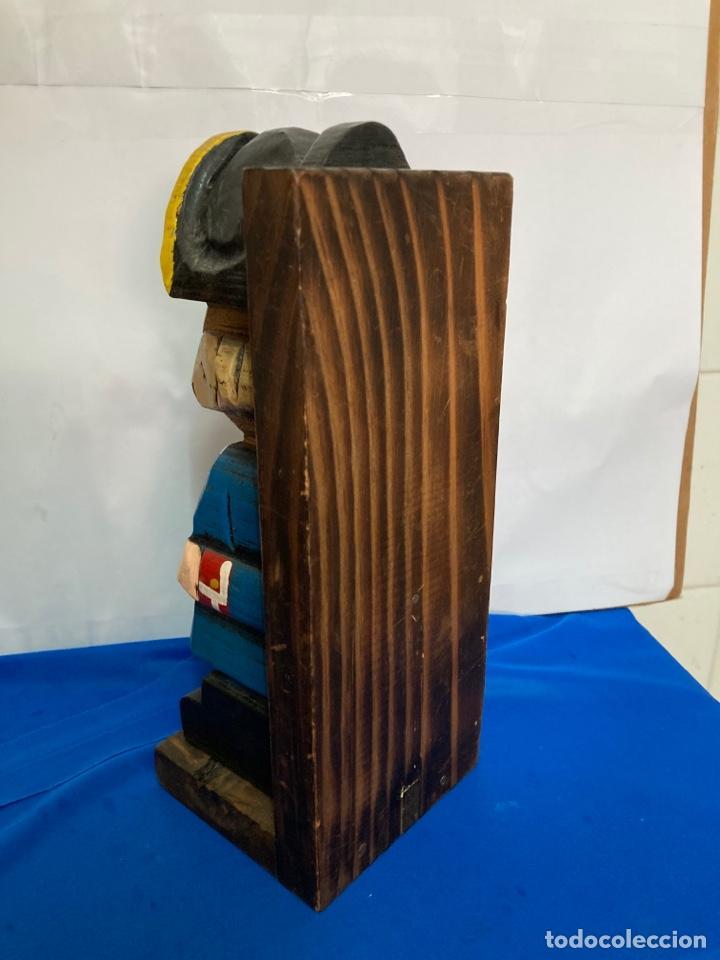 Antigüedades: Talla de madera, pintado a mano, antiguo - Foto 6 - 252872315