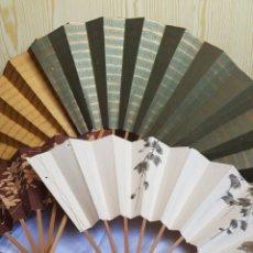 Antiguidades: LOTE ANTIGUOS ABANICOS JAPON. Lote 252935890