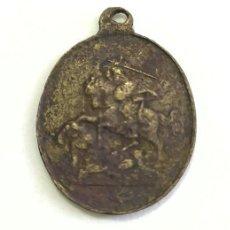 Antiquités: ANTIGUA MEDALLA RELIGIOSA. SANTIAGO MATAMOROS Y CRUZ DE SANTIAGO. SIGLO XIX. Lote 252986060