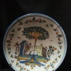Antigüedades: PLATO ACUENCADO DE CERÁMICA DE TALAVERA PRINCIPIOS S. XIX. Lote 252993980