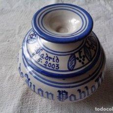 Antiquités: CERÁMICA REALIZADA CON MOTIVO DE LA VISITA DE JUAN PABLO II A ESPAÑA. 1400 PIEZAS NUMERADAS.. Lote 253007060