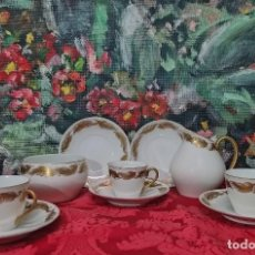 Antiquités: MARAVILLOSO JUEGO DE CAFÉ DE PORCELANA DE CASTRO (INCOMPLETO). Lote 253041895