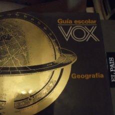 Antigüedades: TOMO GRANDE 30 X 22 X 4CM VOX GUÍA ESCOLAR GEOGRAFÍA AÑO 1990 . 400 PAG. Lote 253045210