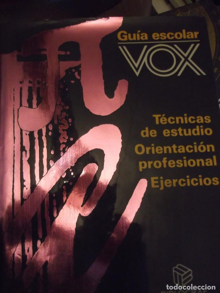 GRAN TOMO VOX 30X22X4CM GUÍA ESCOLAR TÉCNICAS ESTUDIO ORIENTACIÓN PROFESIONAL Y EJERCICIOS 420 PAG (Antigüedades - Varios)