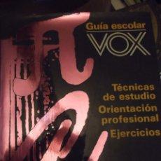 Antigüedades: GRAN TOMO VOX 30X22X4CM GUÍA ESCOLAR TÉCNICAS ESTUDIO ORIENTACIÓN PROFESIONAL Y EJERCICIOS 420 PAG. Lote 253045470