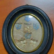 Antigüedades: RELICARIO CON 7 RELIQUIAS DEL SIGLO XIX. Lote 253082690