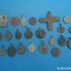 Antiquités: GRAN LOTE DE MEDALLAS MEDIEVALES .. Lote 253091795