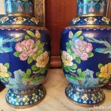 Oggetti Antichi: JARRONES PORCELANA CHINA MACAO +50 AÑOS. Lote 253099405