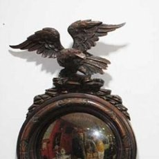 Antigüedades: ESPEJO ANTIGUO TALLADO MOTIVO ÁGUILA. Lote 253106605