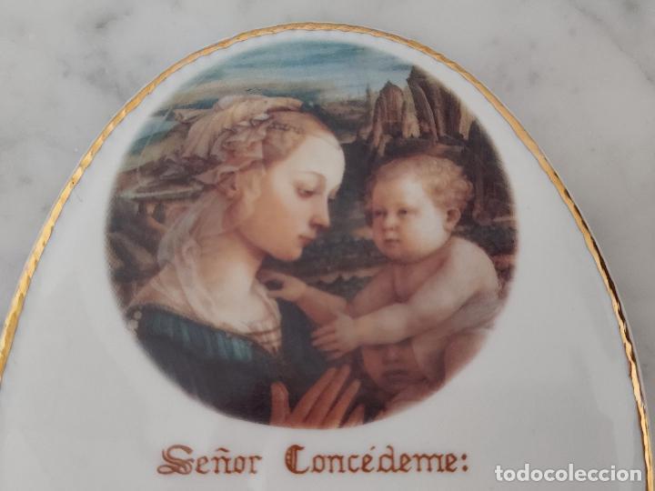 Antigüedades: Oración de la Serenidad en porcelana marca Cister - La Palma - Cartagena - - Foto 3 - 253143230