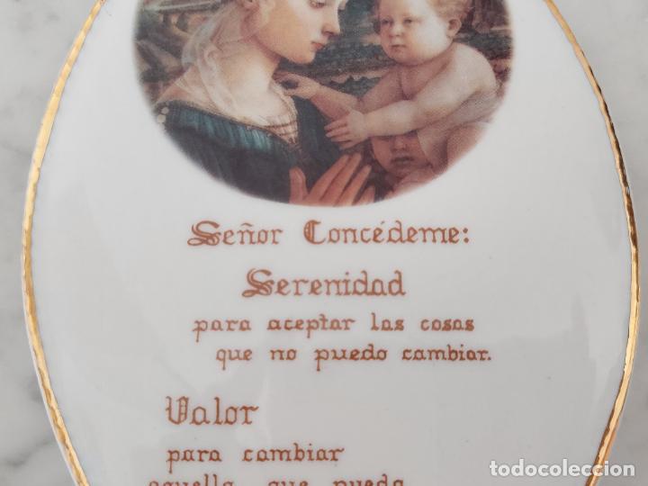 Antigüedades: Oración de la Serenidad en porcelana marca Cister - La Palma - Cartagena - - Foto 4 - 253143230