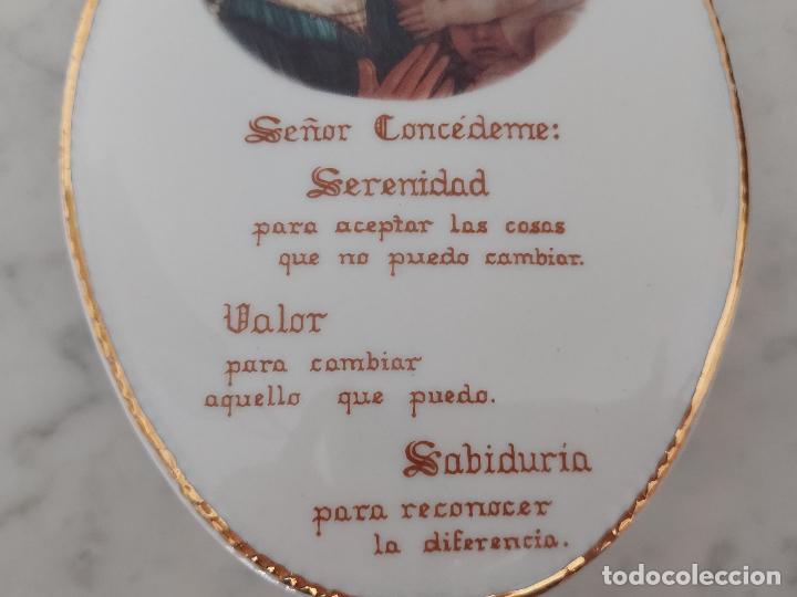 Antigüedades: Oración de la Serenidad en porcelana marca Cister - La Palma - Cartagena - - Foto 5 - 253143230