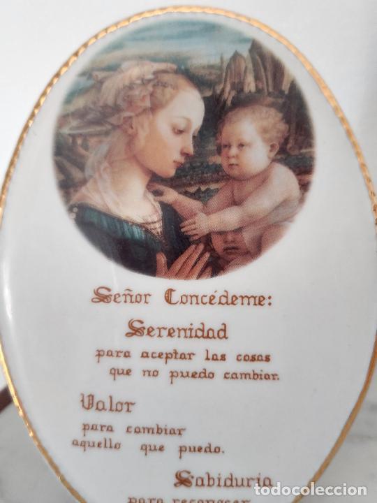Antigüedades: Oración de la Serenidad en porcelana marca Cister - La Palma - Cartagena - - Foto 8 - 253143230
