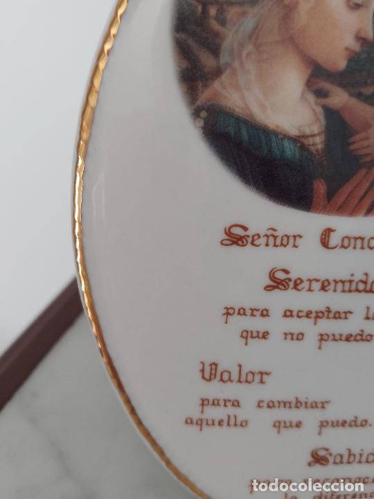 Antigüedades: Oración de la Serenidad en porcelana marca Cister - La Palma - Cartagena - - Foto 10 - 253143230