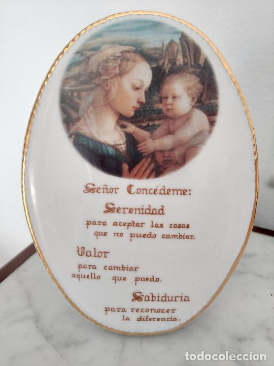 ORACIÓN DE LA SERENIDAD EN PORCELANA MARCA CISTER - LA PALMA - CARTAGENA - (Antigüedades - Porcelanas y Cerámicas - Cartagena)