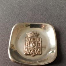 Antigüedades: PLATO PLATA ESCUDO GRANADA. Lote 253146300