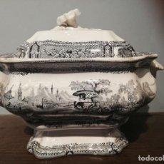 Antigüedades: SOPERA EN LOZA DE SARGADELOS S. XIX. Lote 253156715