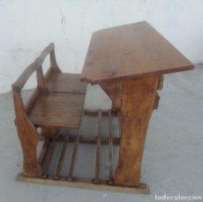 Antigüedades: PUPITRE DOBLE ANTIGUO. Lote 253193085