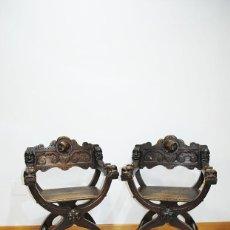Antigüedades: SILLONES JAMUGAS ANTIGUAS RENACIMIENTO ESPAÑOL. Lote 253229370