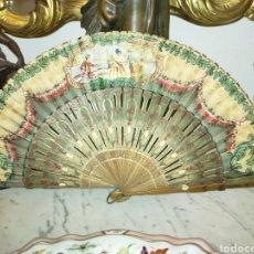 Antiquités: BELLÍSIMO ABANICO 1890-1910S. Lote 253249930
