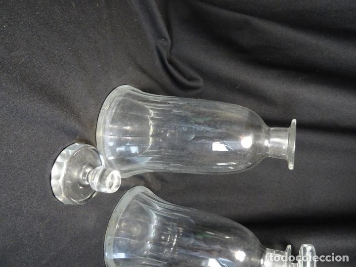 Antigüedades: Cristal tallado. botellas licor o vino, siglo XIX , jarra, licorera - Foto 6 - 253259715