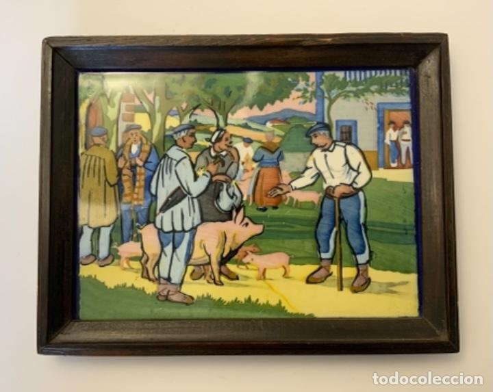 AZULEJO COSTUMBRISTA ONDA (PPIO.S.XX) (Antigüedades - Porcelanas y Cerámicas - Azulejos)