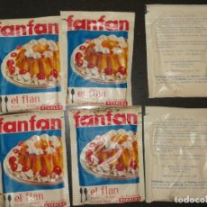 Antiguidades: ANTIGUOS SOBRES DE FLAN FANFAN, STARLUX. 8,3X6,5CM. Lote 253297985